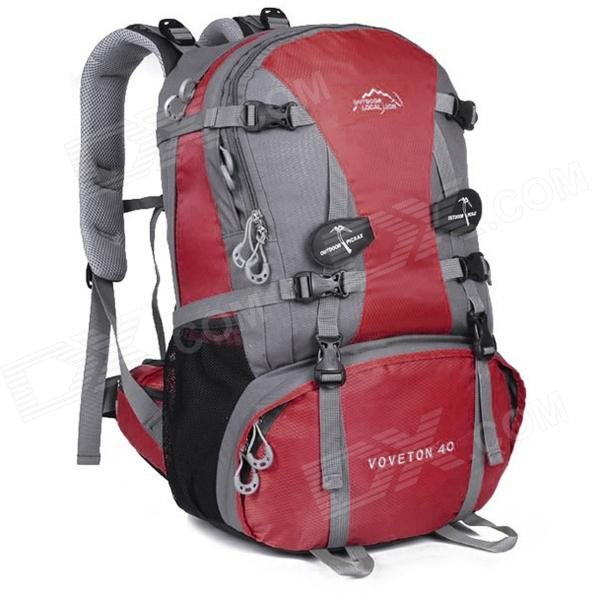 LKLR 429 Outdoor Mountaineering Nylon Backpack - Red + Grey (40L) free shipping 10pcs dg508ady