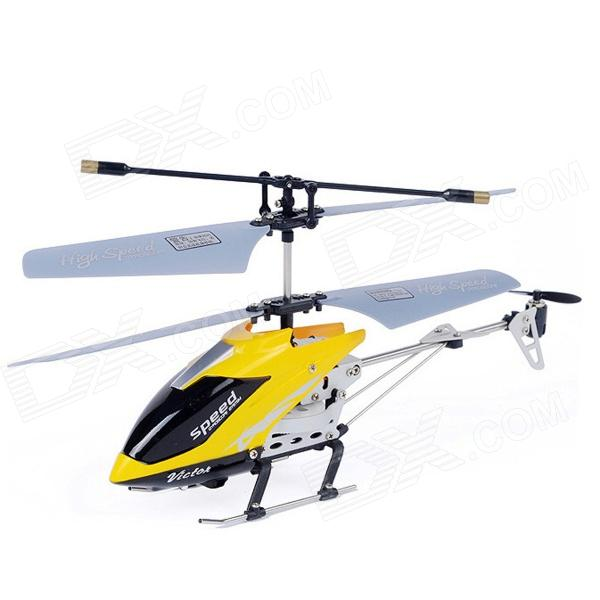 Yiwan M303 3.5-CH Shatterproof Remote Control Helicopter w/ Gyro - Yellow xinlin shiye x123 3 5 ch r c infrared control helicopter black yellow