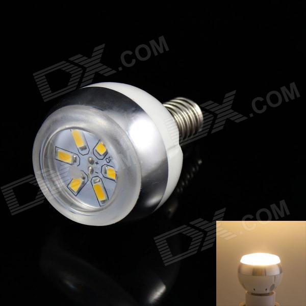 KINFIRE E14 3W 220lm 3000K 6 x SMD 5730 LED Warm White Light Lamp Bulb - (AC 85~265V) kinfire m 18ww 18w 1610lm 3000k 90 smd 3528 led warm white ceiling lamp white ac 85 265v