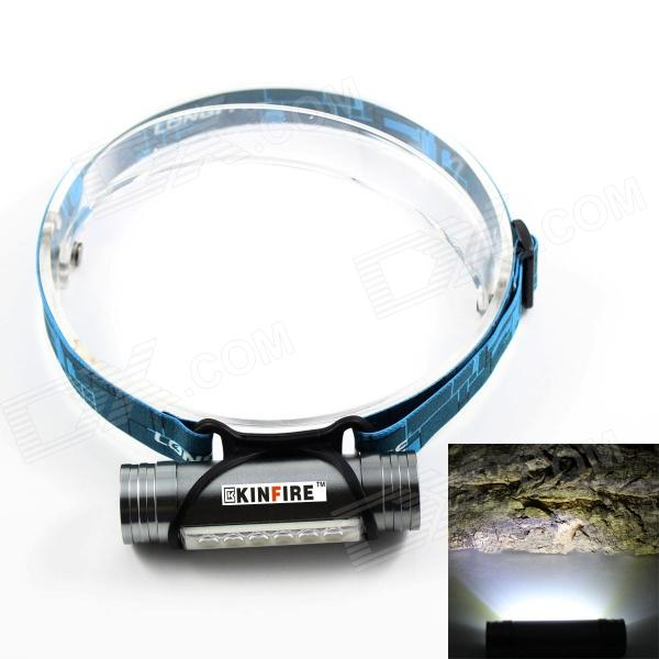 KINFIRE USB Rechargeable 6 x SMD 5730 LED 220lm 3-Mode White Headlamp / Camping Light - Grey high quality 2 mode power 5w led headlight 48000lx outdoor fishing headlamp rechargeable hunting cap light