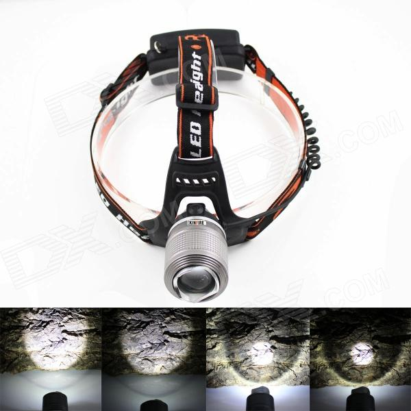 KINFIRE LED 700lm 3-Mode White Light Headlight - Silver (2 x 18650) yage headlight led flashlight fishing light head lamp for hunting mini touch 2 mode switch convenient specialized outdoor lamp