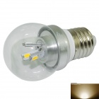 Marsing E27 3W 280lm 3500K 6 x SMD 5730 LED Warm White Light Lamp Bulb - Silver (AC 85~265V)