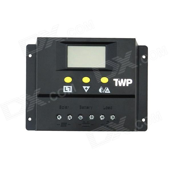 TWP 60I 60A 24V 1440W 2.4 LCD Screen Solar / PV Panel Battery Charge Controller - Black tumo int 60 amp pwm smart solar controller 48v input with lcd display