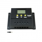 "TWP 60I 60A 24V 1440W 2.4"" LCD Screen Solar / PV Panel Battery Charge Controller - Black"