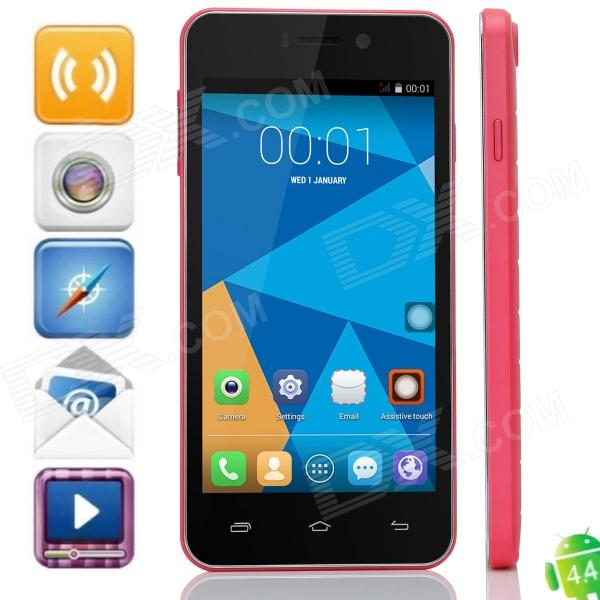 DOOGEE VALENCIA DG800 Quad-Core Android 4.4.2 WCDMA Bar Phone w/ 4.5 IPS, GPS and OTG - Deep Pink m pai 809t mtk6582 quad core android 4 3 wcdma bar phone w 5 0 hd 4gb rom gps black