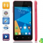 "DOOGEE VALENCIA DG800 Quad-Core Android 4.4.2 WCDMA Bar Phone w/ 4.5"" IPS, GPS and OTG - Deep Pink"