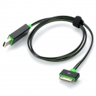 MFi Power4 Charge Sync Cable w/ Visible Flowing Current for IPHONE / IPOD / IPAD - Black + Green