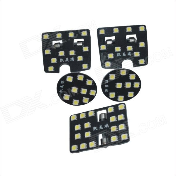 5-i-1 60-SMD 5050 LED White Light Car taklampa för Camry (5 PCS / 12V)