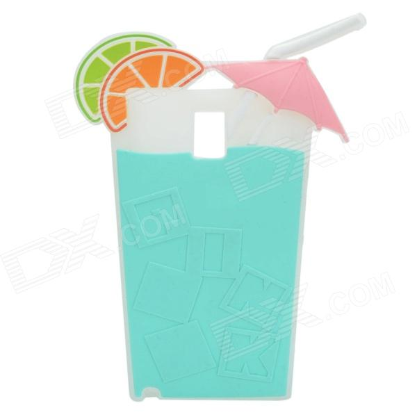 Summer Lemon Drink Cup Style 3D Silicone Back Case for Samsung Galaxy Note 3 - Aquamarine