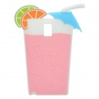 Summer Lemon Drink Cup Style 3D Silicone Back Case for Samsung Galaxy Note 3 - Pink