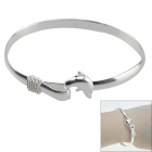 Fashionable Dolphin Style 925-Silver Bracelet - Silver