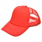 Nylon Mesh Baseball Cap - Red