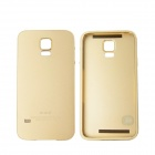 Protective Aluminum Alloy Back Case Frame Cover for Samsung Galaxy S5 - Champagne Gold