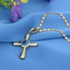 "KCCHSTAR ""The Eye of God"" High Quality 316 Titanium Steel Necklaces - Golden + Blue"