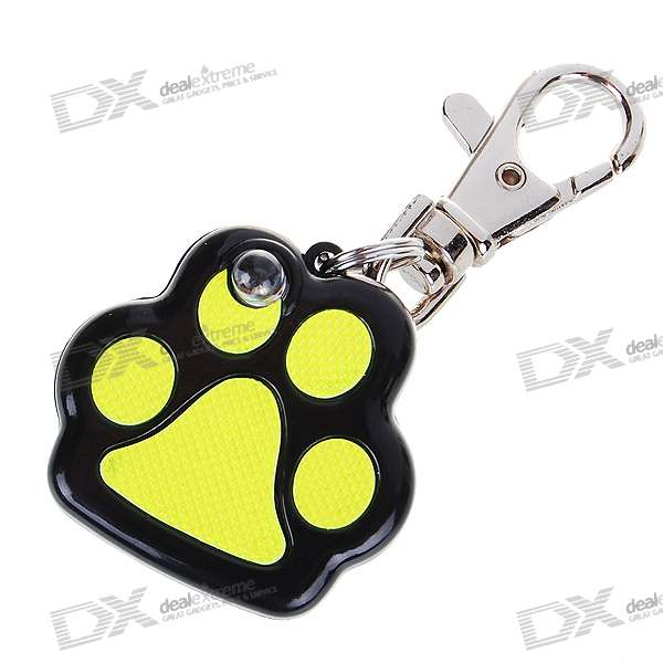 Cute Paw Pet Collar LED Keychain (2*AG13)