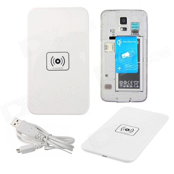 X 5 Qi Standard Mobile Wireless Power Charger + Wireless S5 ricarica ricevitore - bianco + blu