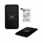 X5 Qi Standard Mobile Wireless Power Charger + S5 Wireless Charging Receiver - Black + White