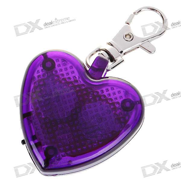 Cute Heart Flashing LED Pet Collar Pendant Light - Purple (2*AG13)