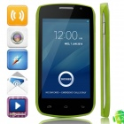 "DOOGEE Collo3 DG110 MTK6572 Dual-core Android 4.2.2 WCDMA Bar Phone w/4.0"" IPS, 4GB ROM, GPS - Green"