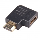 Big 90 Degree w/ Pits on Surface HDMI Male to HDMI Female Adapters / Converters - Black (10PCS)