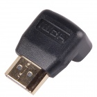 CM01 Right Angle HDMI Male to HDMI Female Adapters / Converters - Black + Golden (10PCS)