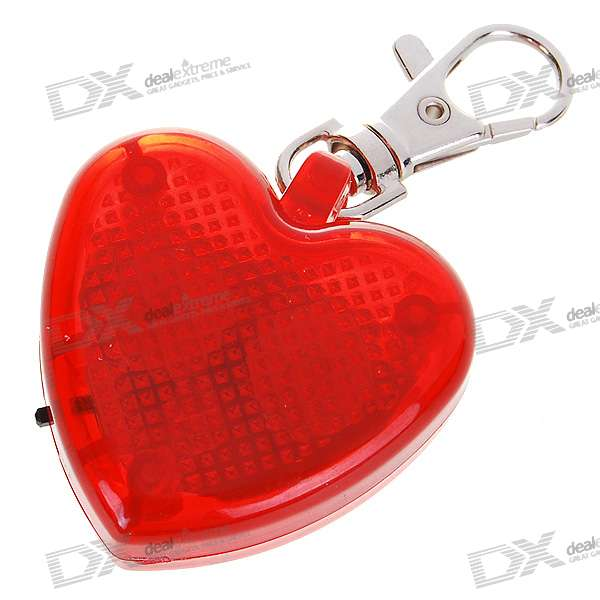 Cute Heart Flashing LED Pet Collar Pendant Light - Red (2*AG13)