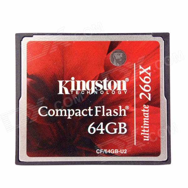 Kingston CF/64GB-U2 Ultimate Compact Flash Memory Card - Red (64GB / Class 151~266X)