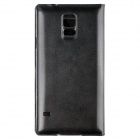 PU Case w/ Smart Auto-Sleep Chipset for Samsung Galaxy S5 - Black