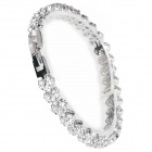 Fashionable Rhinestone Bracelet for Women - Silver