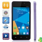 "DOOGEE VALENCIA DG800 Quad-Core WCDMA Android 4.4.2 Bar Phone w/ 4.5"" IPS, GPS, OTG - Light Purple"
