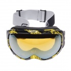 CRG98-5A Windproof and Anti-fog Dual-Layer Lens Skiing Goggles - Yellow + Black