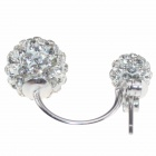Fashionable Women's Drop Earrings w/ Crystal Inlaid - Silver (Pair)