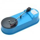 ezcap Mini USB Turntable Vinyl LP to MP3 Converter - Blue + Black