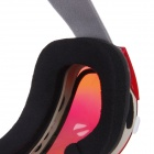 CRG105-1 Windproof and Anti-fog Dual-Layer Lens Skiing Reflective Goggles - Red
