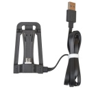 Universal USB to Micro USB Data Sync / Charging Flat Cable w/ Phone Holder - Black (100cm)