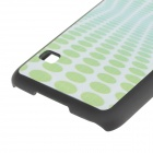 Circle Pattern Frosted Protective Back Case for Samsung Galaxy S5 - Green + White + Black