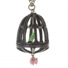 Women's Retro Style Lovely Birdcage Zinc Alloy Pendant Necklace - Antique Brass