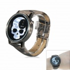Skull Style Casual Analog Quartz Wrist Watch - Camouflage Grey (1 x 377)