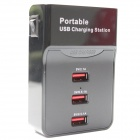 Portable 3-Port USB Digital Charging Station for Cellphone / Tablet PC / Digital Camera (EU Plug)