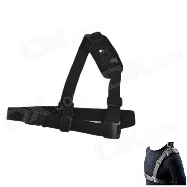 Adjustable Single Shoulder Strap for Sport Camera / GoPro Hero 4 / 2 / 3 / 3+ / SJ4000 - Black