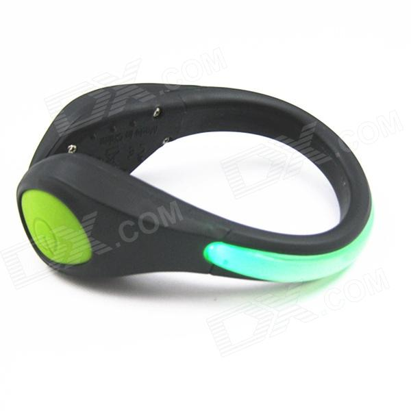 idomax-outdoor-sports-gym-led-safety-shoe-clip-for-biking-running-jogging-green-black