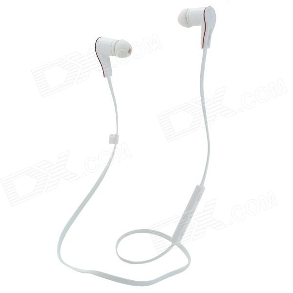 Nameblue ST-11 Sport Bluetooth V4.0 Wireless Stereo Headset Headphone w/ Microphone - White nameblue st 33 sports bluetooth v4 0 in ear earphone headphone set w microphone volume control