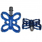 Replacement Butterfly Style Aluminum Alloy Bicycle Pedals - Blue (Pair)