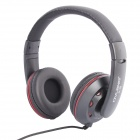 OVLENG X3 Hi-Fi Stylish Stereo Headphones w/ Microphone for Cellphone / PC - Black (3.5mm Plug)