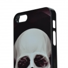Skull Pattern Protective Aluminum Alloy Back Base for IPHONE 5 / 5S - Black
