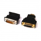 HDMI Male to DVI Female Adapter + DVI Male to VGA Female Video Converter Adapter - Black