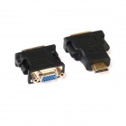 HDMI to DVI Adapter + DVI to VGA Video Converter Adapter - Black