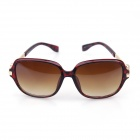 Retro Style McQueen protezione UV400 Sunglasses PC Lens - Tartaruga embricata Red
