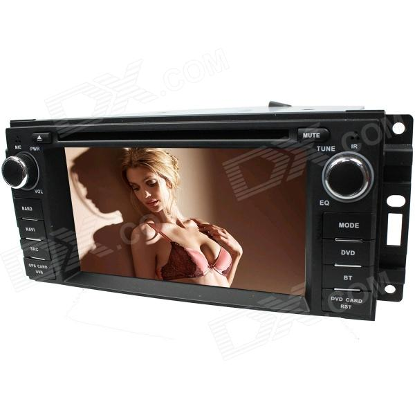 "LsqSTAR 6.2"" Touch Screen 1-DIN Car DVD Player w/ GPS, FM, RDS,Canbus, AUX for Chrysler Sebring/300C"