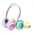 OYK OK-403 Wired 3.5mm Headband Music Headphone w/ Volume Control for Kids - Pink +Grey